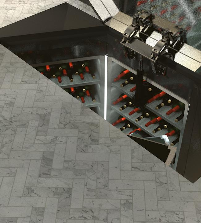 Rectangular Automatic Tile Door