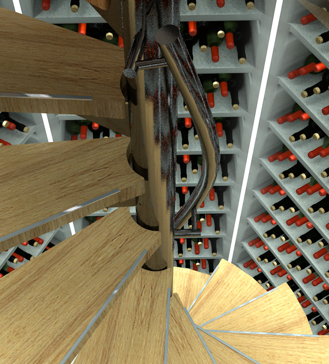 Timber Stairs Render