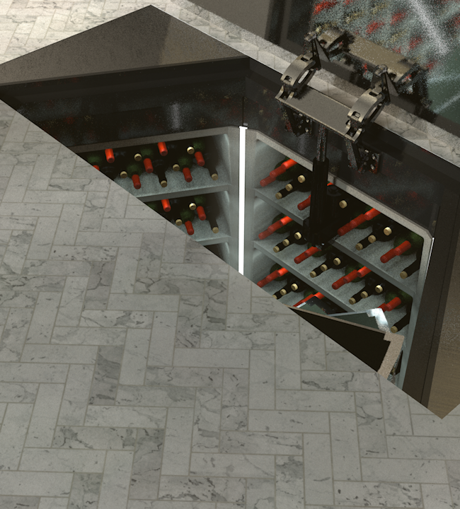 17th July Cellar Complete Setup - Rectangular Automatic Door Setup
