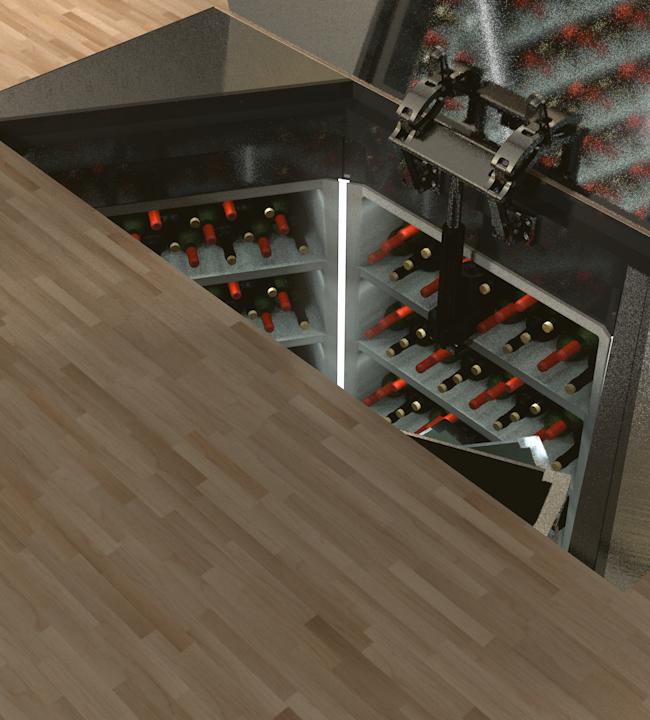 17th July Cellar Complete Setup - Rectangular GRP Kitchen Setup