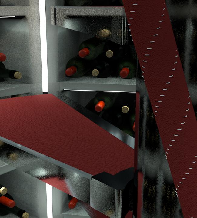 Burgundy Stitching Leather